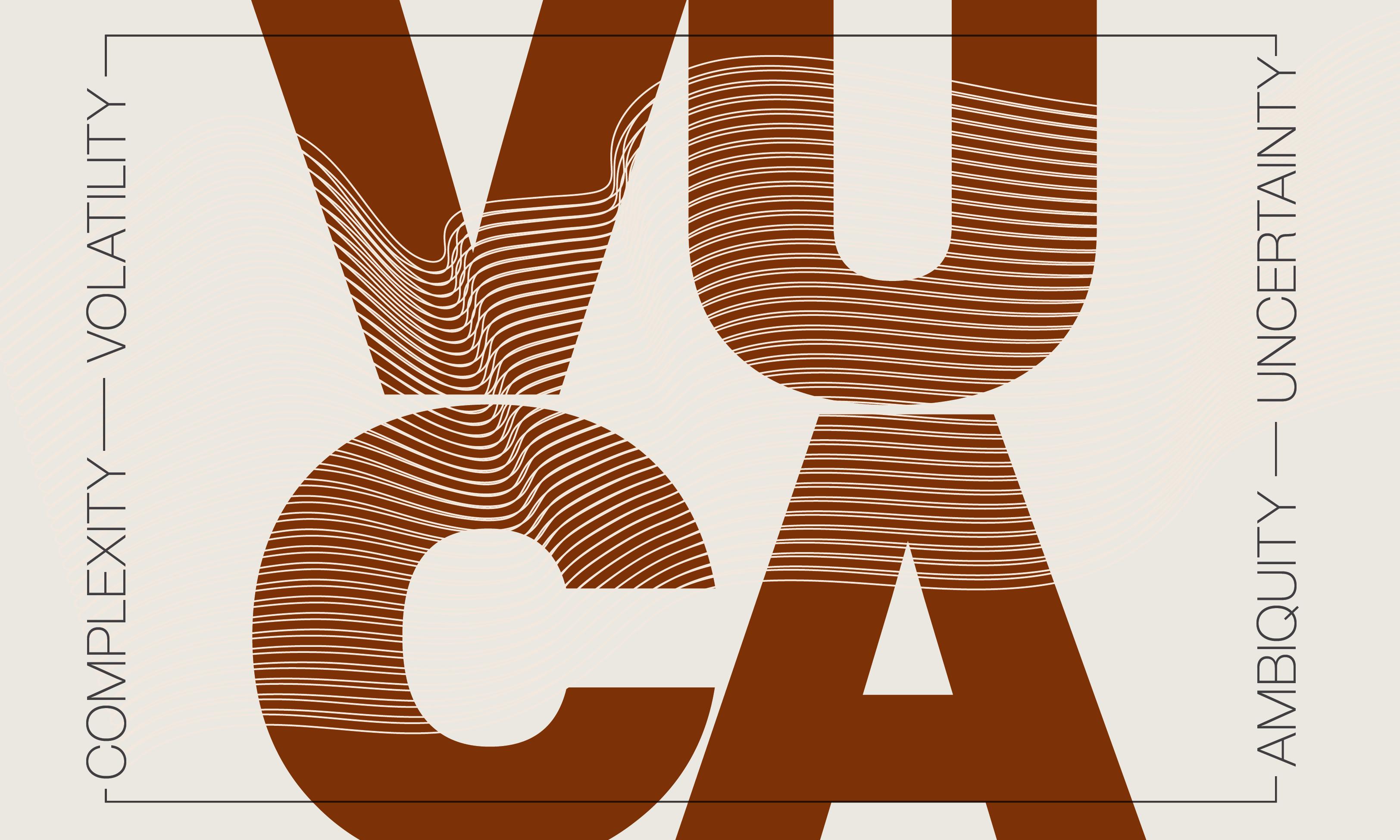 Schaubild zu VUCA: Volatility, Uncertainty, Complexity, Ambiguity
